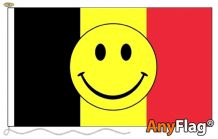 - BELGIUM SMILEY ANYFLAG RANGE - VARIOUS SIZES